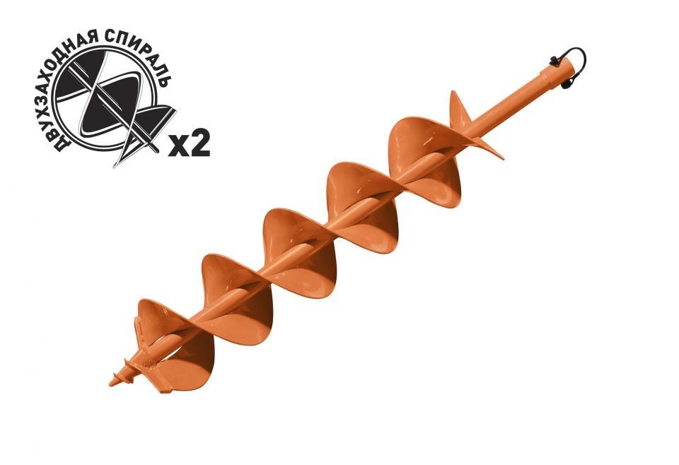 Шнек для грунта Carver GDB-150/2 d=20mm.d=150mm.L=80см двухзаходный
