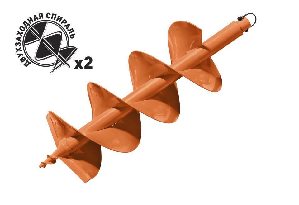 Шнек для грунта Carver GDB-250/2 d=20mm.d=250mm.L=80см двухзаходный