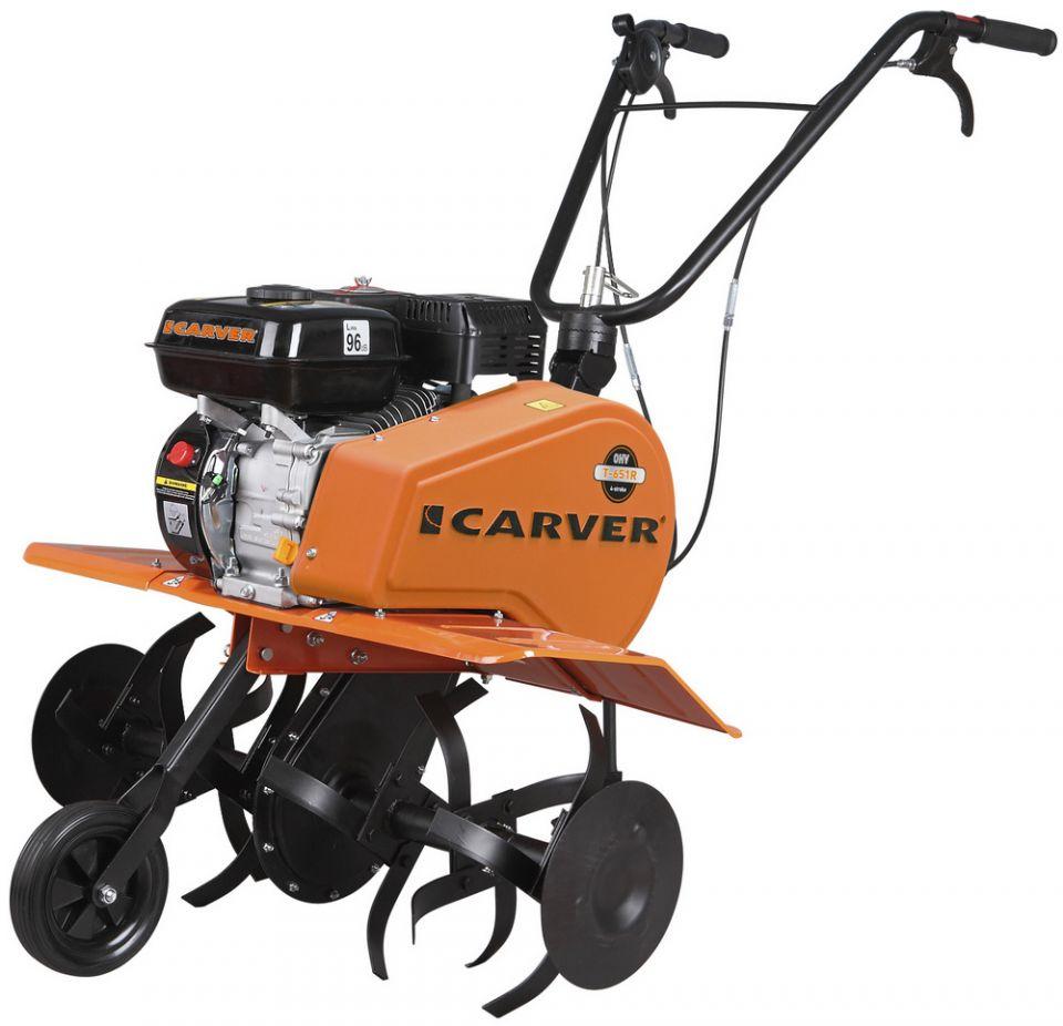 Мотокультиватор Carver T-651 R (6.5 л.с. реверс, цепн ред,рег руль,  шир 30-55-85 см)